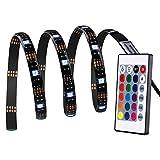 lederTEK LED Streifen, LED Stripes, 30 LED 1M 5050 RGB Flexible Farbe wechselnden Komplettpaket mit 24 Tasten IR-Fernbedienung, für Deko, Weihnachten, Party usw.(mehrfarbig)