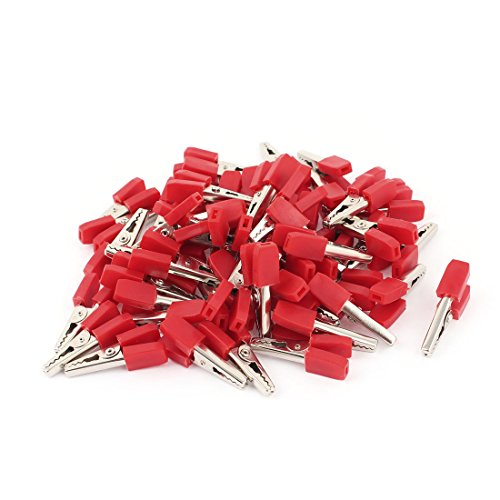 Clip-test-adapter (sourcingmap® 57PCS Isolierte Elektrische Alligator Clip Test Lead Adapter rot 34mm)