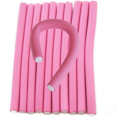 For Sexy Hair Roller Hairstyle Spiral Hair Bendable Foam Curler Roller Set Twist Curls Flex Rods10 Pieces (10 Pieces)
