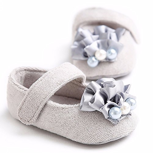 FemmeStopper Baby Girl Flower 9-15 Months(14cm) Born Infant Baby Girls Shoes First Walker Bowknot 1 Year Baby Girl Shoes