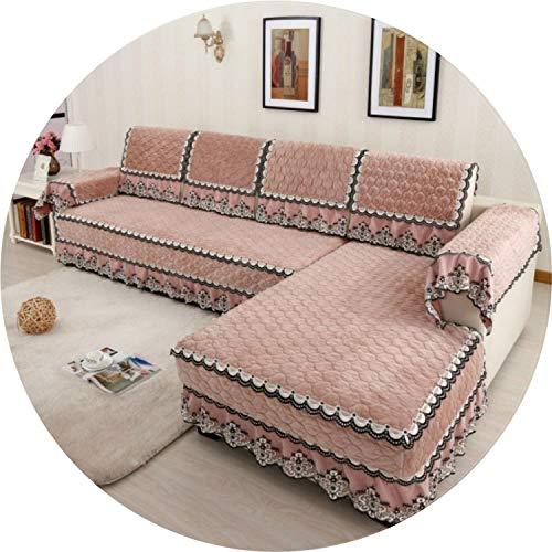 Multi Größe übersichtliches Design-Sofa-Abdeckung mit 4 Farben Festen Couch-Kissen für Wohnzimmer, 04,80x180cm Handtuch -