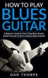 How To Play Blues Guitar: A Beginner`s Guide On How To Play Blues Chords, Scales And Licks To Be An Authentic Blues Guitarist! (Guitar Domination)