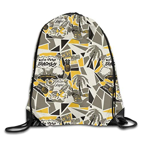 Naiyin Tropical Style Drawstring Backpack Bag Rucksack Shoulder Sackpack Sport Gym Yoga Runner Beach Hiking Dance -