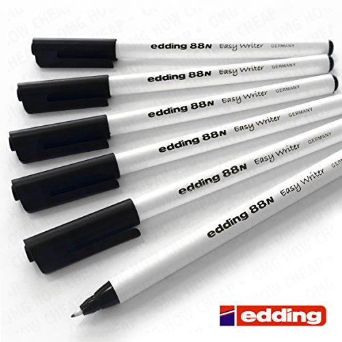 edding-88n-easy-writer-handwriting-pen-black-pack-of-6