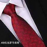 GENTLEE TIEEs el negocio del matrimonio el esposo corbata de seda, corbata de seda de color rojo...
