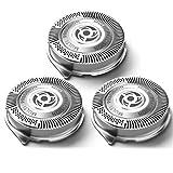 Best Philips Norelco para máquinas de afeitar la cabeza eléctrica - Gugutogo 3 piezas de recambio Cabezales de afeitado Review