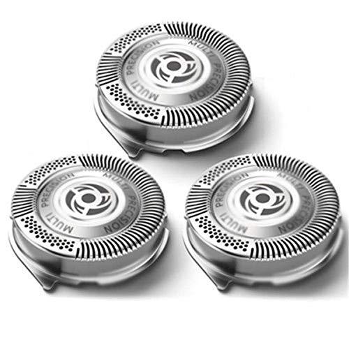 Gugutogo 3 piezas de recambio Cabezales de afeitado máquina de afeitar de las hojas de afeitar Philips Serie 5000 plata