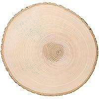 Tranche d'arbre - Tronc d'arbre - Idéale en tant que plaque de porte, décoration murale, dessous de plat, décoration - Produit naturel en bois d'aulne