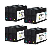 4 Compatible Sets of 3 C/M/Y HP 951 (HP951XL) Printer Ink Cartridges (Colour Set)