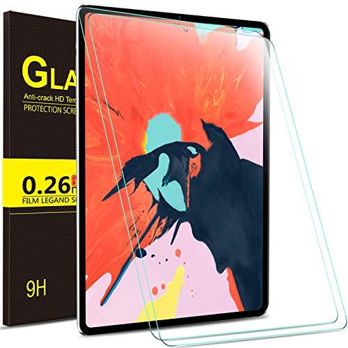 Yocktec Panzerglas Schutzfolie für ipad pro 12.9, ultradünne 9H Härte HD Clear Premium gehärtetes Glas Displayschutzfolie für Apple ipad pro 12.9 Zoll 2018 Tablet (2 Packung)