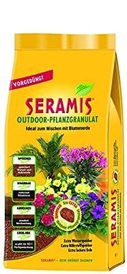 Seramis Ton-Granulat für alle Balkon- und Kübelpflanzen, Vorgedüngt, Outdoor-Pflanzgranulat, Ton-Farbe
