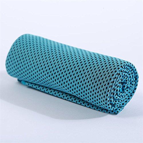 Lifua Mikrofaser schnell trocknendes Fitnesstuch für Gym, Fitness, Yoga, Camping, Laufen, Klettern und viele Weitere Aktivitäten. Eiskühlung Sporttuch, sofort trockenes Sporttuch (Blau)