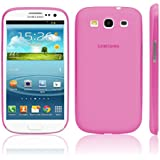 iGard® Samsung Galaxy S3 Ultra Slim Case 0,3mm Cover Premium Schutzhülle Hülle Rosa Transparent