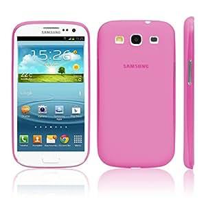 iGard® Samsung Galaxy S3 Ultra Slim Case 0,3mm Cover Premium Schutzhülle Hülle Rosa Transparent
