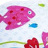 LLRY Rutschfeste Wanneneinlage Anti-Rutsch Badewannenmatten PVC Karikatur Entwurf Massage Dusche Badematte mit Saugnäpfen für Baby Kinder (Kiss Fish)