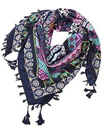 Malloom Tassel Écharpe Femmes De Mode Rétro Boho Imprimé Carré Foulards  Femme Wraps Fille Châles Écharpe f7fb0ddbd26