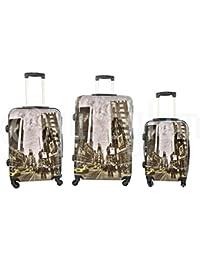 Set de 3 maletas rigidas 4 ruedas de policarbonato abs extremista ligero equipage pequeno de cabina art taxi