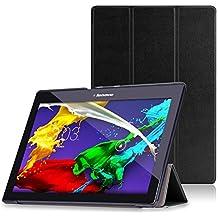 MoKo Lenovo Tab 2 A10 / TAB-X103F Tab 10 -Funda Ultra Slim Lightweight Smart-shell Stand Cover para Lenovo Tab2 A10-70 / TAB-X103F Tab 10 / Tab3 10 Business Tablet, Negro