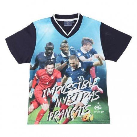 FFF Tee Shirt Football Equipe de France Enfant