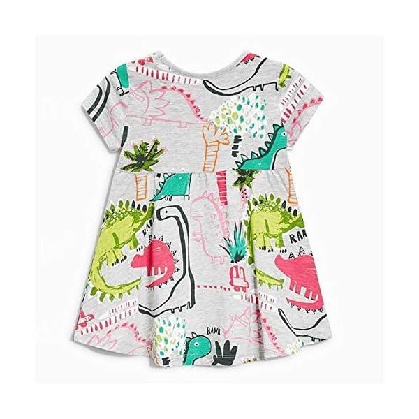 Aini Vestido De BebéS De Verano Vestido De Manga Corta para NiñA Vestido Estampado Camiseta Infantil Vestido De… 2