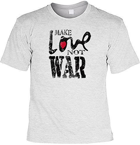 USA-Shirt/ T-Shirt mit Amerika-Motiv: Make Live not War Grau