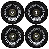 Ridge Skateboards 70mm Longboard Wheels Ruote per Skateboard, Nero