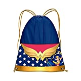 Karactermania DC Super Hero Girls Wonder Woman Bolsa de Cuerdas para El Gimnasio, 41 cm, Azul