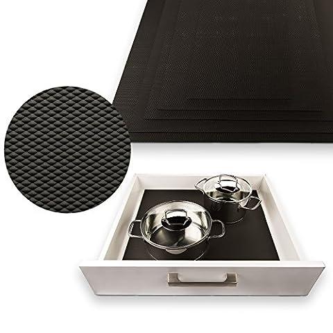 SO-TECH® Tapis antidérapant Orga-Grip noir graphite pour des tiroirs de 80 cm (mesurage intérieur 682 x 473 mm)
