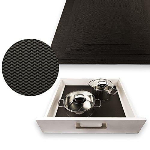SO-TECH® Schubladenmatte Orga-Grip Graphitschwarz für 60er Blum Schublade (Innenmaß 482 x 473 mm)