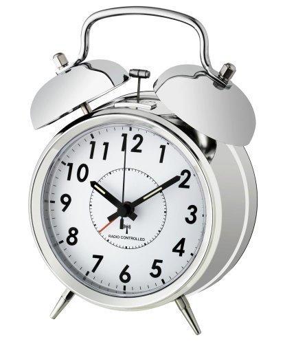 Reloj despertador radiocontrolado 'NOSTALGIE' chrom 60.1503.54