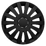 (Größe & Farbe wählbar) 17 Zoll Radkappen WIND BLACK (Schwarz Matt), UNIVERSAL Radzierblenden passend für fast alle Fahrzeuge!