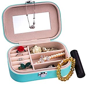 Gioielli Scatola, Diealles Jewellery Box Organizer Storage Case Gioielleria per Anelli / Orecchini / Collana / Braccialetto / Pendenti Con Specchio