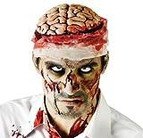 Zombie Brain Gehirn zum aufsetzen mit Bandagen Halloween Kostüm Schocker Zombiewalk Flashmob Kracher