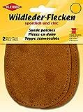 Kleiber 12 x 10 cm Ovale Flicken aus Velours-Leder, 1 Paar, Beige