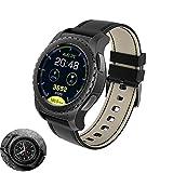 Lu Bluetooth Smart Watch 1,3'IPS Rotondo Schermo Tattile Smart Watch con Carta SIM E TF Card Slot di...