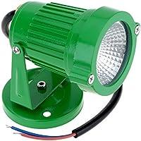 Vycloud (TM) AC85-265V 10W COB LED Prato riflettore della lampadina ad alta potenza IP65 impermeabile RGB LED per la luce verde / nero Outdoor stagno del giardino del percorso