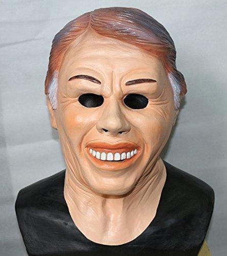 n TM 619219292627Jimmy Carter EX Präsident Maske aus Latex American Fancy Kleid Film Film Kostüm Zubehör, Unisex, ONE SIZE (Latex Film Masken)