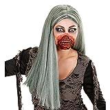 Blutiger Zombie Mund Horror Make up Latexmaske Halloween Fake Wunde Zombiemaske Halloween Schminken Gruselparty