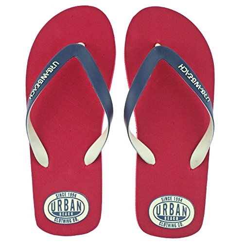 mens-urban-beach-amoco-red-toe-post-flip-flops-pool-beach-sandals-uk-9-eu-43-44