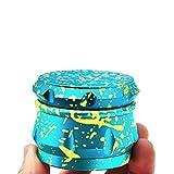Neue Multi Color Grinder 4 Teilig 63mm Crusher Herb Gras Mühle Kitchen Grinder für Tabak, Kaffee, Spice, Kräuter, Gewürze, Herb, Pollen Aluminium Luftfahrt (Cryan Gelb)