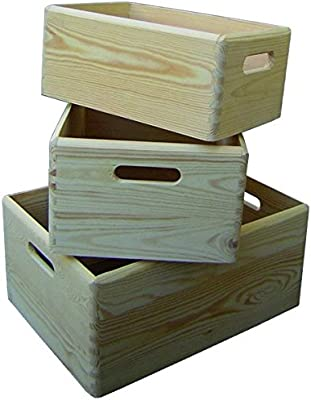 Blinky 7971803 Cajas de Madera, Kit Modelo Petunia, 3 Unidades
