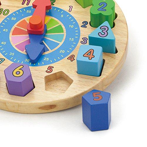 Viga Toys - 59235 - Shape Sorting Puzzle - Clock