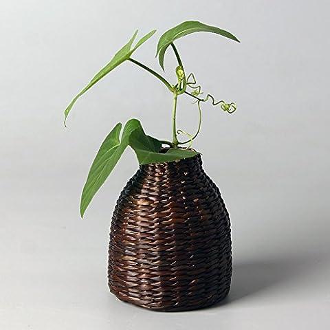 LUYEMEN Adornos de arte Zen del téLos floreros de bambú japonés del té de flores flores art nouveau creative,Jarrón