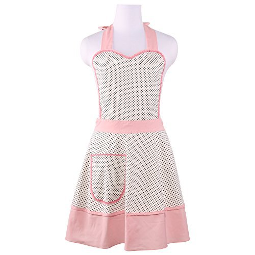 hschürze für Frauen, Stil Zoe, Polka Dots Pink ()