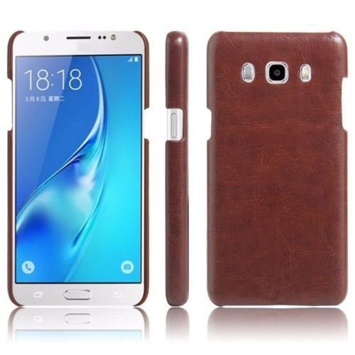 MEEPHONG (TM) Luxury Cowboy Leather Case UltraThin Back Cover For Samsung J7 ( 2015 ADITION) (Brown)