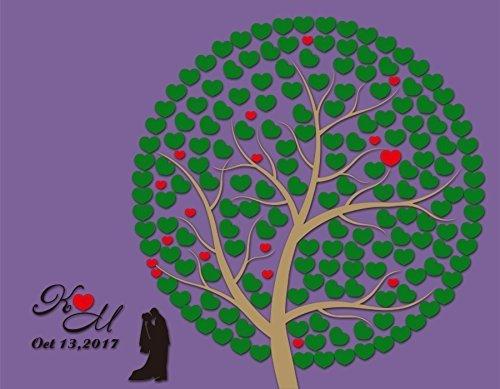 Einzigartiges, personalisiertes Hochzeit Geschenke Hochzeit Gästebuch Alternative Baum rustikal Holz 3D Hochzeit Gästebuch Herz für Braut und Bräutigam (Rustikale Holz-shadow Box)