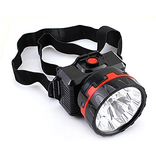 Fsi Powerful Ultra Bright Head Torch LED Rechargeable Lamp – 10 Watts (Black)