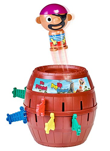 Tomy Kinderspiel Pop Up Pirate - hochwertiges Aktionsspiel für die ganze Familie - Piratenspiel verfeinert die Geschicklichkeit Ihres Kindes - ab 4 Jahre