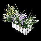 Maceta Madera de Almacenamiento Cerca de Flor Plantas Vendimia Blanco Decoración para Boda Jardín Casa