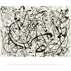 Lámina 'Número 14, Gris', de Jackson Pollock, Tamaño: 36 x 28 cm